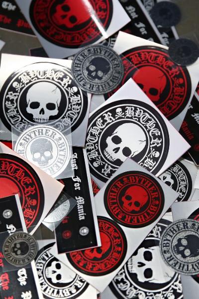 ByTheRByTheR Skull Logo Waterproof Sticker
