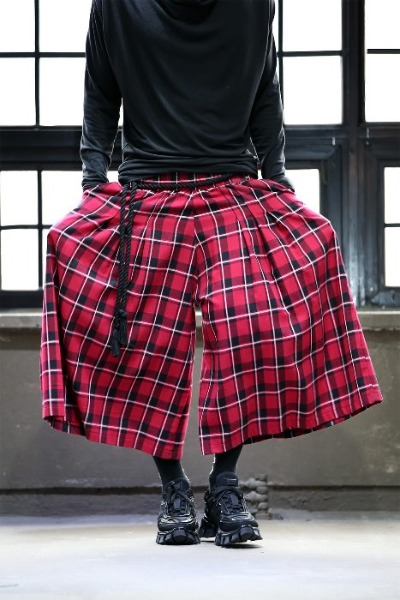 ByTheRByTheR Check Pattern Skirt Trousers