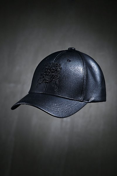 ByTheRByTheR Goblin Embroidered Leather Ball cap