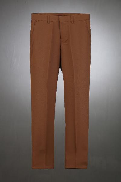 ByTheR棕色緊身直筒寬鬆褲