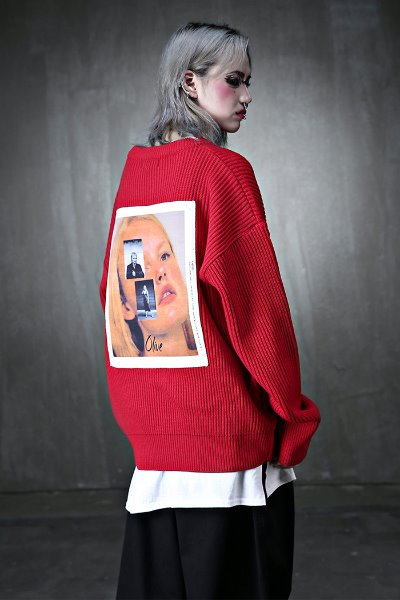 ByTheRBack Photo Printing Loose Fit Knit