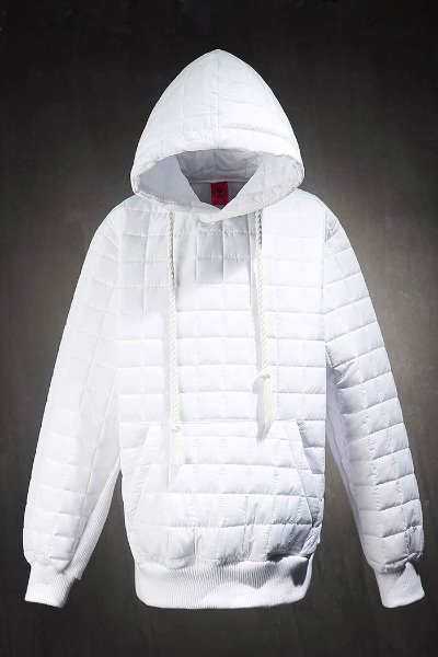 ByTheRByTheR Qualting Padded Hoodie White