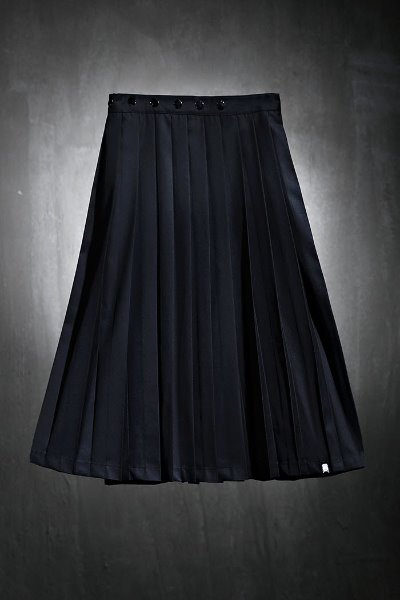ByTheRMukha button wrap pleated skirt