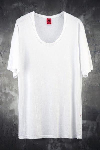 ByTheRByTheR Loose Line U-neck Short Sleeve T-shirt