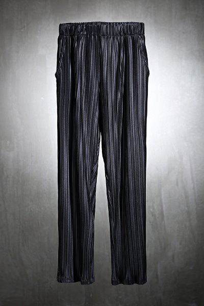 ByTheRMukha soft pleated straight-leg trousers