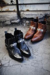 ByTheR精緻質感正統繞帶裝飾西部靴