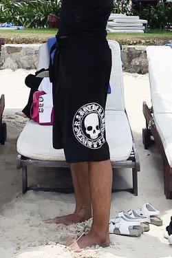 ByTheRByTheR Skull Logo Swim Pants