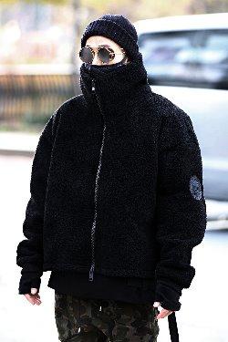 ByTheRByTheR羊毛宽松高领夹克