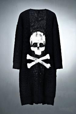 ByTheRByTheR手繪骷髏針織外套