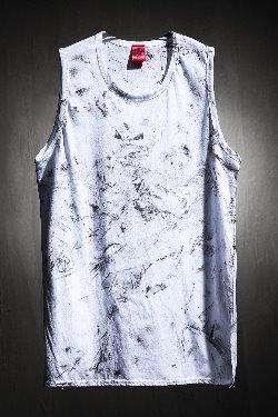 ByTheRByTheR Custom Rough Painting Long Layered Nashi White