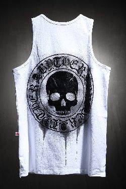 ByTheRByTheR Custom Dripping Painting Skull Logo Embossing Nashi White