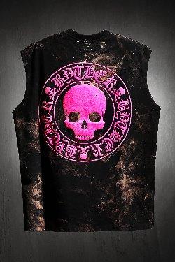 ByTheRByTheR Custom Rough Bleach Skull Logo Cutting Box Nashi Pink