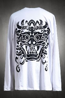 ByTheRByTheR Ghost Print Long Sleeve White