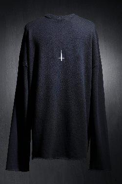 ByTheRProjectR Back Cross Embroidery Cut Long Sleeve