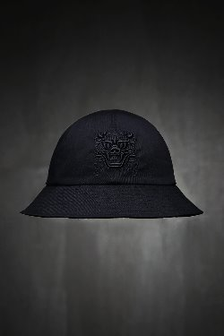 ByTheRByTheR goblin cotton-embroidered bucket hat