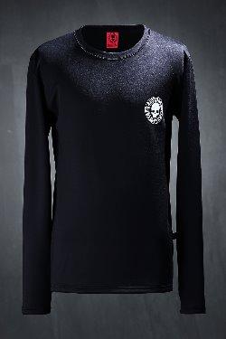 ByTheRByTheR Skull Print Hand Warmer Fever T-shirt