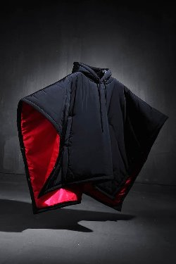 ByTheRByTheR hooded padded cape