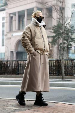 ByTheR2-way Detachable Maxi Ma-1 Coat