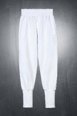 ByTheRByTheR Skull Embroidered Cotton Jogger Pants White