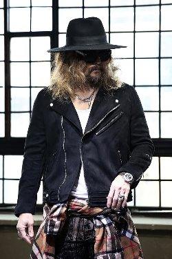 ByTheRBlack Embossed Suede Rider Jacket