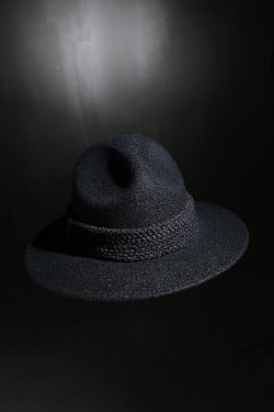 ByTheRMukha Flat Rope Mountain Fedora Black