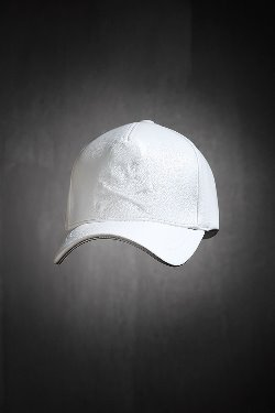 ByTheRByTheR Shadow Skull Leather Snapback White