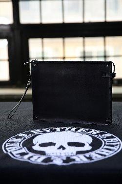 ByTheRSquare Stud Cowhide Clutch Bag