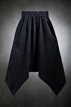 ByTheRMukha Diagonal Unfoot Loose Fit Banding Baggy Pants