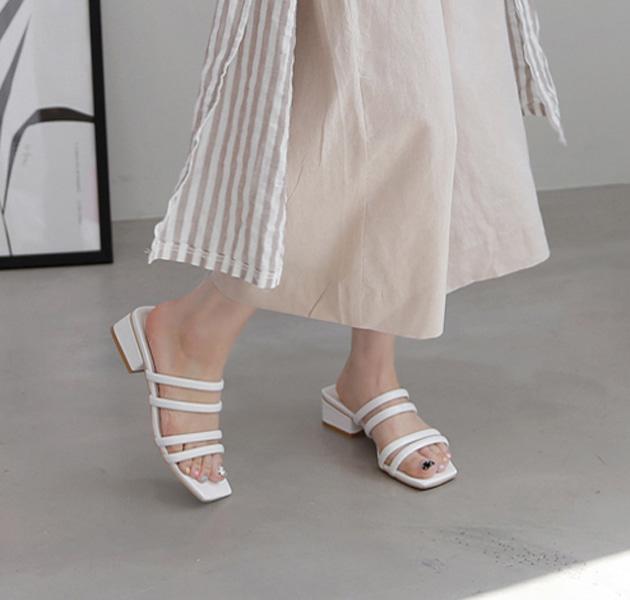 Strappy Blocked Heel Sandals
