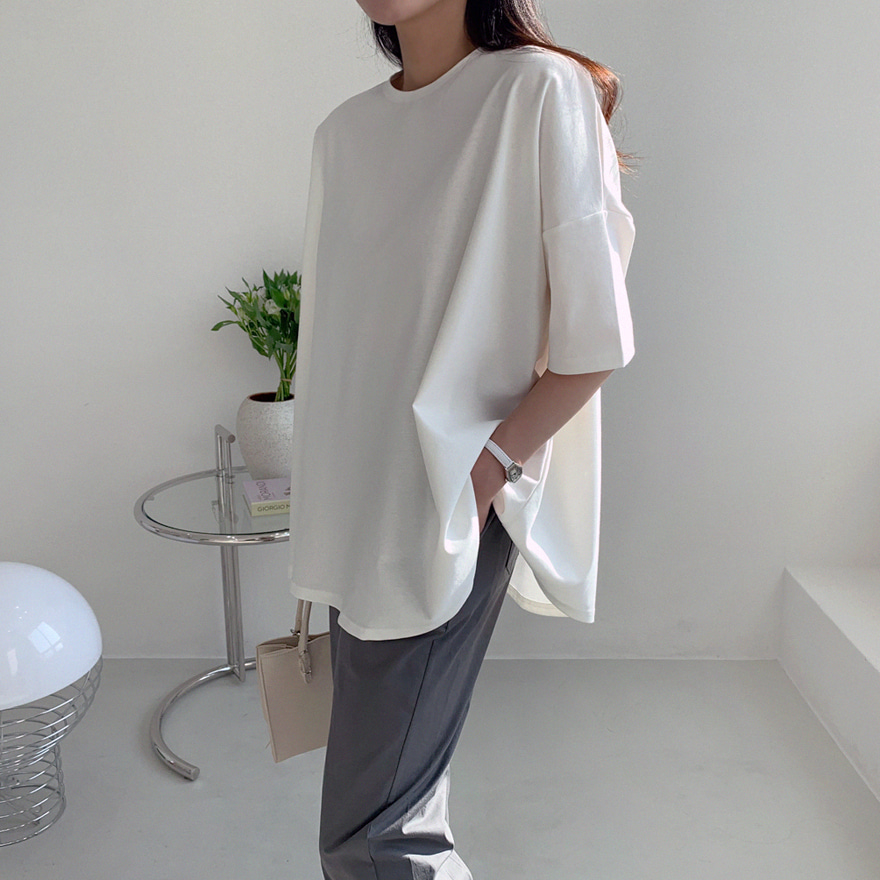 Basic Half Sleeve Loose T-Shirt