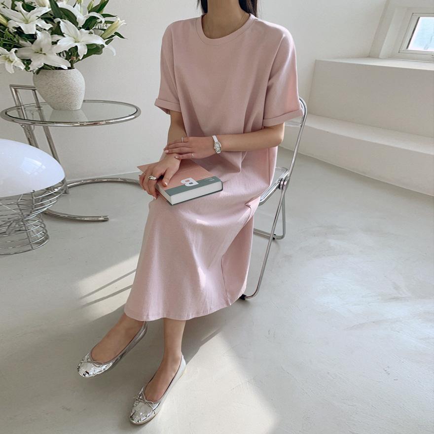 Cuffed Sleeve T-Shirt Dress