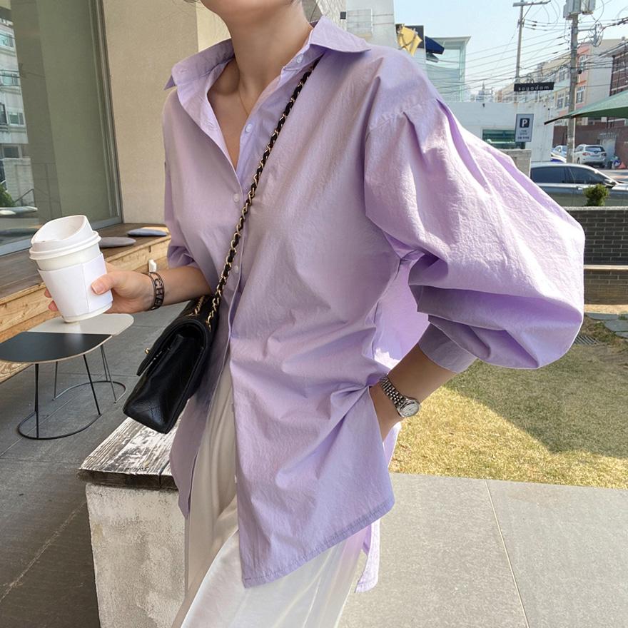 [미유라벨NO.134]크리미 바이오워싱 셔츠