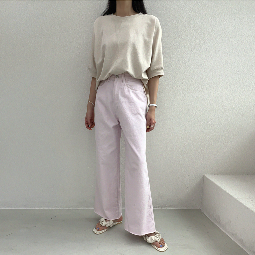 Wide-Leg Cotton Pants