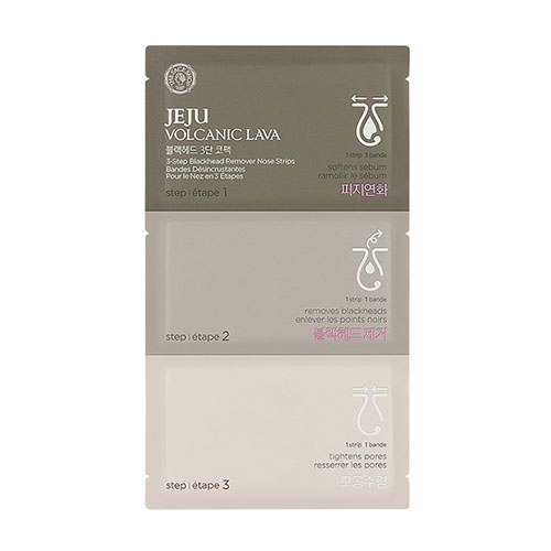 THE FACE SHOP JEJU VOLCANIC LAVA 3-Step Blackhead Remover Nose Strips