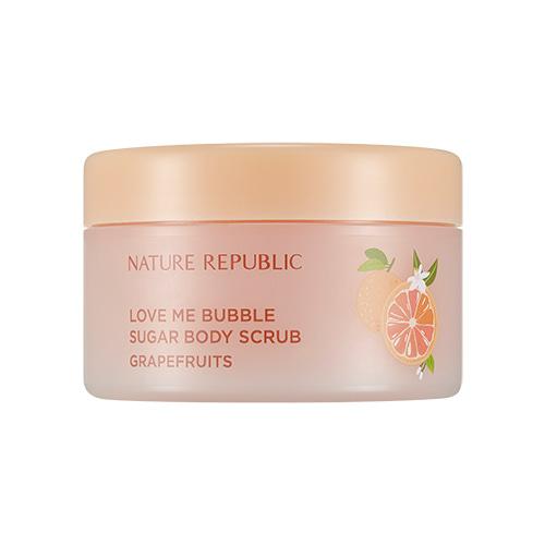 NATURE REPUBLIC Love Me Bubble Sugar Body Scrub Grapefruits 200g