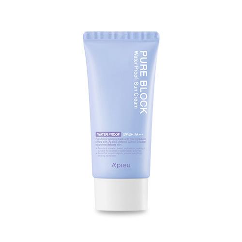 A'PIEU Pure Block Natural Waterproof Sun Cream SPF50+ PA+++ 50ml