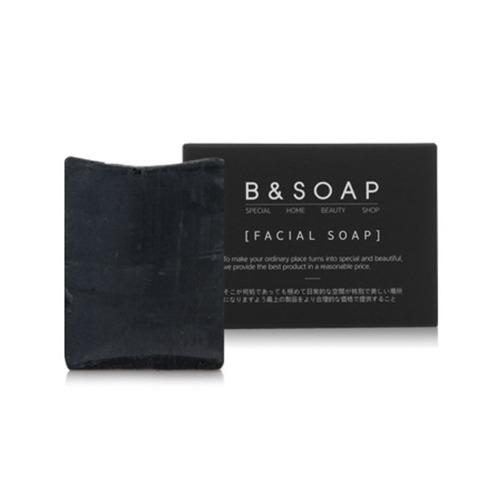 B&SOAP Facial Soap Black Block 100g