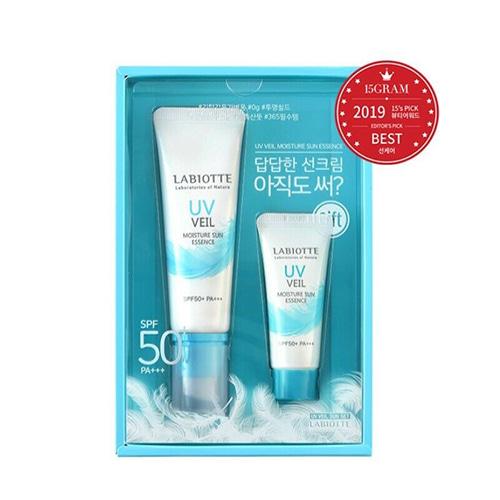 LABIOTTE UV Veil Moisture Sun Essence SPF50+ PA+++ 50ml + 20ml SET