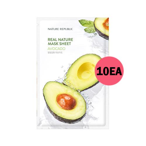 NATURE REPUBLIC Real Nature Mask Sheet Avocado 10ea