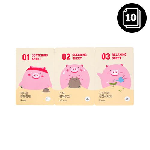 mefactory 3 Step Piggy Nose Strip 10ea
