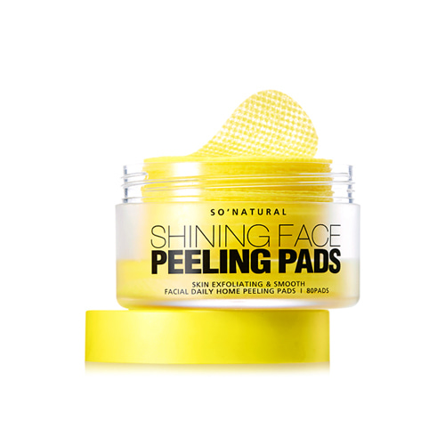 so natural Shining Face Peeling Pads 80ea