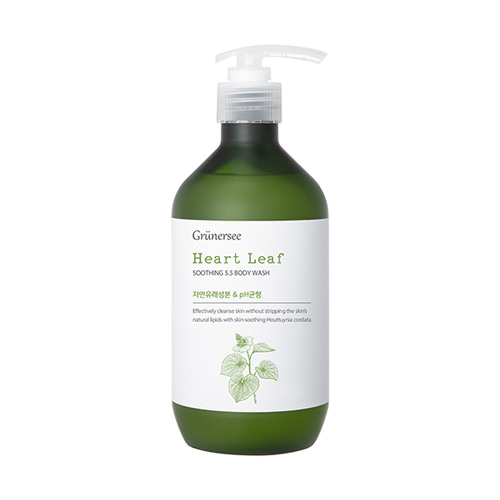 Grunersee Heart Leaf Soothing 5.5 Body Wash 500ml