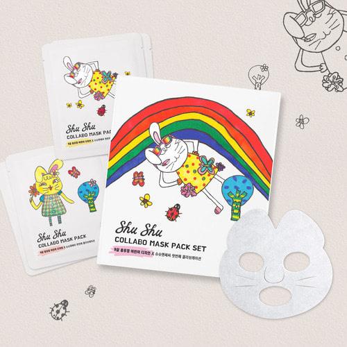 Shu Shu & Sassy Collabo Mask Pack Set 6ea