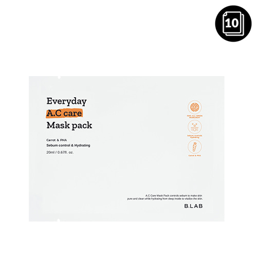 B_LAB Everyday A.C care Mask Pack 10ea