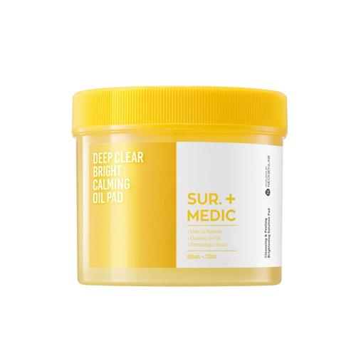 SUR.MEDIC+ Deep Clear Bright Calming Oil Pad 60ea