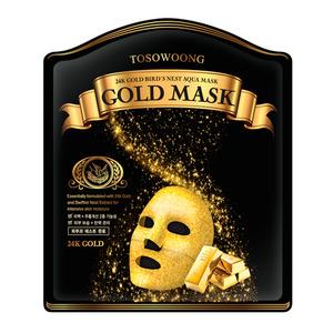 TOSOWOONG 24K Gold Bird's Nest Aqua Mask 5sheets