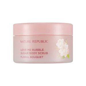 NATURE REPUBLIC Love Me Bubble Sugar Body Scrub Floral Bouquet 200g