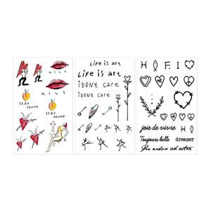 INGA Artist Tattoo Sticker 1Set (3ea)