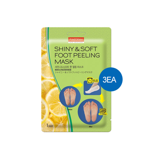 [TIME DEAL] PUREDERM Shiny & Soft Foot Peeling Mask 1pair*3ea