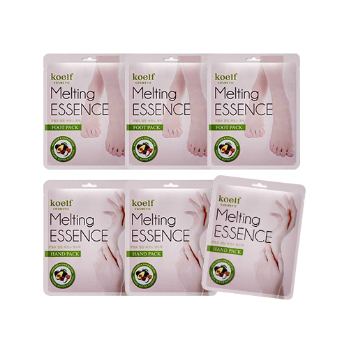 Koelf Melting Essence Hand Mask & Foot Mask 3sets